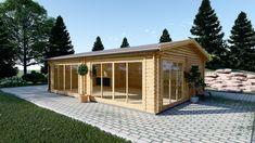 Feriehus MARINA, til salg, Køb i god kvalitet til god pris online. Glasgow, Pergola, Outdoor Structures, House Styles, Home Decor, Manufactured Housing, Timber House, Building Homes, Cabanas