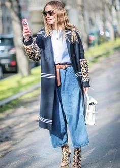 Baggy separates + Fancy coat = A good idea.