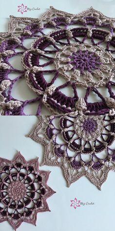 Frozen Lotus Decorative Free Crochet Pattern
