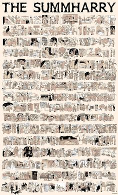 The Summharry: a gigantic work coming from the Burrow's Studio. The complete summary of Harry Potter's plot, in one giant poster. Advice: Open this beauty on a new webpage to enjoy every inch of it.