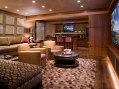 Ideas for Finished Basements   Home Remodeling - Ideas for Basements, Home Theaters & More   HGTV