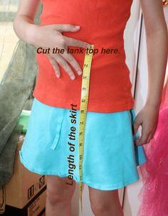 DIY Tank Top Dress Tutorial - The Happy Housewife™ :: Home Management Girl Dress Patterns, Skirt Patterns Sewing, Blouse Patterns, Fabric Sewing, Coat Patterns, Diy Clothing, Sewing Clothes, Barbie Clothes, Shirt Dress Tutorials