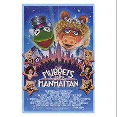 The Muppets Take Manhattan posters for sale online. Buy The Muppets Take Manhattan movie posters from Movie Poster Shop. We're your movie poster source for new releases and vintage movie posters. Jim Henson, Dabney Coleman, Classic 80s Movies, Classic Tv, Art Carney, Frank Oz, 80s Movie Posters, Muppet Babies, Fraggle Rock