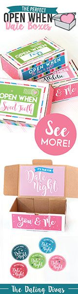 Open When Date Boxes: Date night ready to match your current mood!