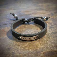 SAMAA PUUTA on korusarja elämän pienille ihmeille. Se on babykoru. Tää yksilöllinen Pikku-Äijä -ranneke kuuluu SAMAA PUUTA sarjaan.  #samaapuuta #pikkuäijä #vauvakoru #kastekoru #nimikoru #uniikkikoru #uniquejewelry #babyjewelry #namejewelry #handmade #finnishdesign #jewelrydesigner #koruseppä #anuek #kerava Bracelets, Leather, Men, Jewelry, Fashion, Moda, Jewlery, Jewerly, Fashion Styles