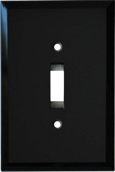 GLASS MIRROR BLACK Switch Plates, Outlet Covers & Rocker Switchplates