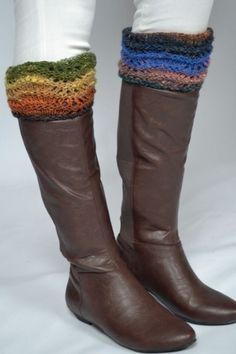 'Cira' Boot Toppers from What Can I Knit Tonight? by Noro at KnittingFever.com