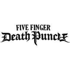 Five Finger Death Punch Text Logo Vinyl Decal Sticker BallzBeatz . com
