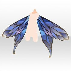 Fantasy Character Design, Character Drawing, Butterfly Fashion, Wings Design, Cocoppa Play, Drawing Base, Cute Chibi, Drawing Clothes, Anime Outfits