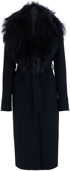 ELIE SAAB Fur Collar Coat