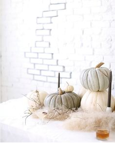 Pumpkins + texture for fall decor style
