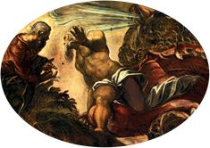 Jonah Leaves the Whale`s Belly, 1577, Tintoretto