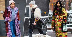 Shearling jackets, pom-pom beanies, rainbow shawls.