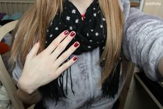 scarf + nails + jacket + hair = ♡ By: ♡Volleyball Beauty♡ (VolleyballBeaut)