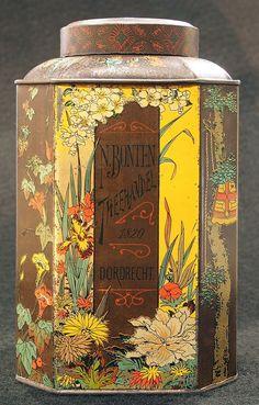 Voorraadbus voor thee van N Bonten tea tin 1820