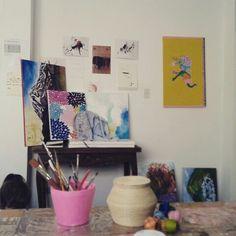 Tengo un taller. Y es el taller mas lindo del mundo ♥ #tallerdearte #tallernoctiluca #arte #art #atelier #paint #painting
