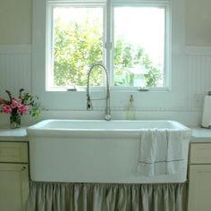 Farmhouse Kitchen-curtain under sink