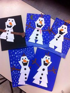 Olaf - De website van vouwjuf! Frozen Kids, Olaf Frozen, Diy And Crafts, Crafts For Kids, Art For Kids, Website, Christmas Crafts, Kids Rugs, Art Ideas