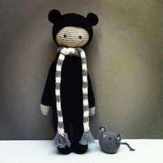 BINA the bear made by TravellingEast / crochet pattern by lalylala