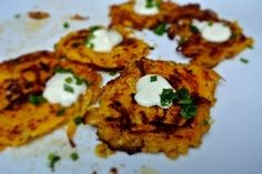 Butternut Squash Pancakes with Creme Fraiche | Multicultural Kid Blogs