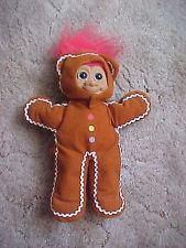Russ Berrie & Co. Troll in Gingerbread Outfit Christmas Doll Toy