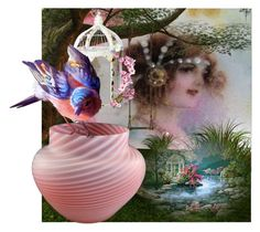 In The Garden by pattysporcelainetc on Polyvore featuring Kunst, vintage and country