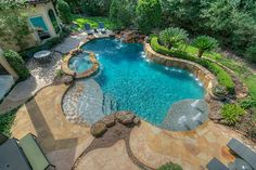 The property 62 N Gary Glen Cir, Spring, TX 77382 is currently not for sale on Zillow. Backyard Pool Landscaping, Backyard Pool Designs, Swimming Pools Backyard, Swimming Pool Designs, Inground Pool Designs, Lap Pools, Indoor Pools, Pool Decks, Luxury Swimming Pools
