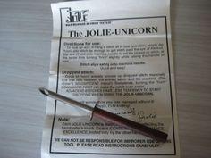 Jolie - Unicorn pick up tool for knitting machine