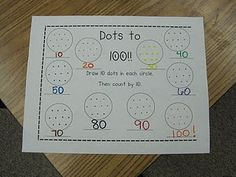 Like this 100 day worksheet--would maybe adapt to count by 5 or 2