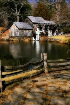 Marby Mill was built in 1910 on the Blue Ridge Parkway in Meadows of Dan, Virginia