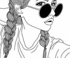 Resultado de imagen de dibujos faciles de chicas tumblr  dibujos