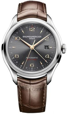 Baume & Mercier Men's BMMOA10054 Clifton Analog Display Swiss Automatic Brown Watch