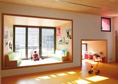 Ecole Maternell - Paris, nice interior for kids via Architizer