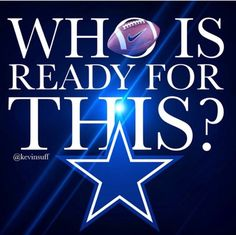Dallas Cowboys - Who's ready for this? ✭ #CowboysNation #DC4L ✭