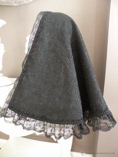 MANTILLA DE MISA PARA TRAJE REGIONAL (Antigüedades - Moda y Complementos - Mujer)