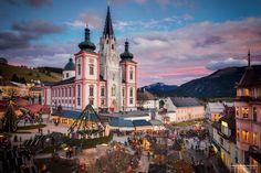Mariazell Mariazell, ahol már 300 éve sütnek mézeskalácsot 1st Christmas, Christmas Holidays, Advent, Innsbruck, Marvel, Mansions, House Styles, Building, Nature