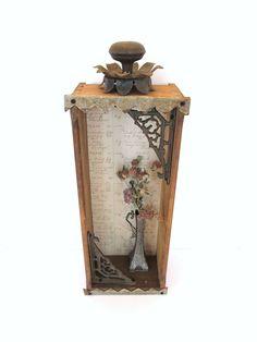 Pinner said: My vintage salvage collage wall shadowbox.  I always love using drawers!  So pretty.