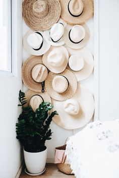 Home Decor For Small Spaces DIY hat hanging from A Pair & A Spare. 9 Clever Ideas for Organization & Storage in Small Spaces. Decor For Small Spaces DIY hat hanging from A Pair & A Spare. 9 Clever Ideas for Organization & Storage in Small Spaces. Hat Organization, Small Space Organization, Diy Hat Rack, Hat Racks, Hanging Bookshelves, Hanging Hats, Diy Hanging, Hanging Storage, Hat Storage