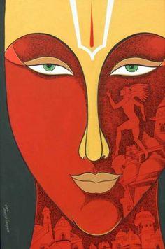 Krishna Ashok 1964   Indian Figurative painter