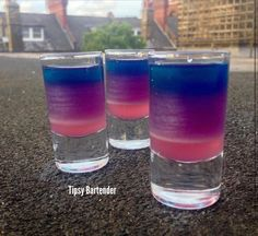Check out the Shot of Magic! This vibrant shot will surely impress your friends! Give it a try. For the recipe, visit us here:http://www.tipsybartender.com/blog/a-shot-of-magic