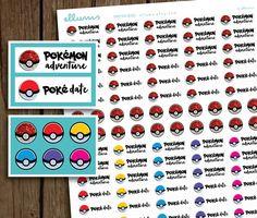 Pokemon Planner Stickers  PRINTABLE pdf jpg  Pokemon Go by ellums