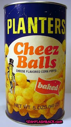 Cheez balls in a can!