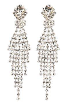 rhinestone fringe and stone earrings  $5