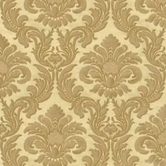 Damask Wallpapers feature beautiful patterns set on solid backgrounds. Buy from our collection of damask wallpapers. Damask Wallpaper, Wallpaper Paste, Adhesive Wallpaper, Wall Wallpaper, Pattern Wallpaper, Denmark Street, Baroque Decor, Solid Background, Cream And Gold