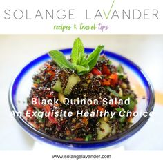 Quinoa is the 'Queen of Cereals'...according to the Incas! Try the Black Quinoa Salad recipe and get lots of health benefits plus a lot of flavour and texture.
