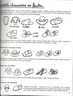 felt shoes instruction