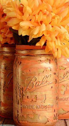 Layered Paint Mason Jars Tutorial