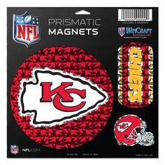 "Kansas City Chiefs Magnets - 11""x11 Prismatic Sheet"