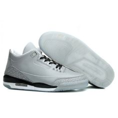 100% original air jordan 3 for mens silver black white retro 5lab3 reflective hot sale