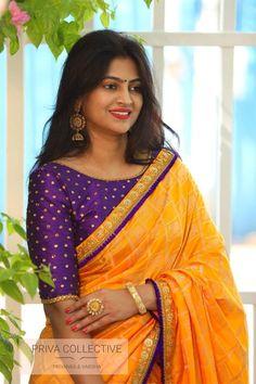 Brocade Blouse Designs, Pattu Saree Blouse Designs, Half Saree Designs, Simple Blouse Designs, Bridal Blouse Designs, Blouse Patterns, Latest Saree Blouse Designs, Dress Designs, Simple Designs
